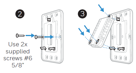 Attaching the UWP to the box with screws diagram