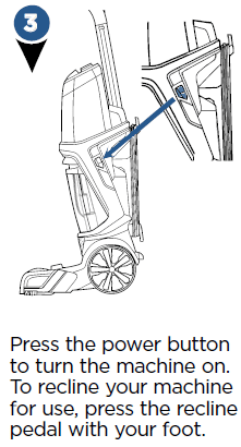 Turning the unit on using the power button