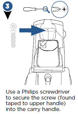Use a screwdriver to secure the screw