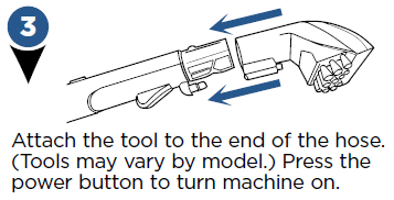 Attaching a tool to the hose