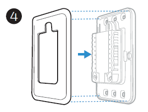 Snapping the cover plate to the adapter diagram