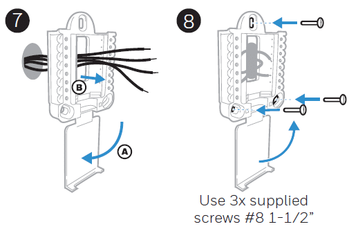 Wiring the Honeywell Thermostat to the wall
