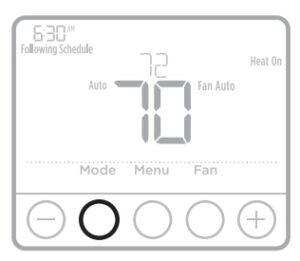 How to operate the thermostat