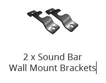 Package contents - soundbar wall mount brackets
