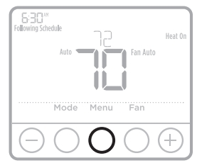 Adjusting the program schedules on the thermostat