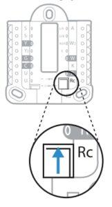 Setting the Rc slider tab