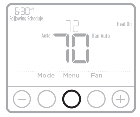 Setting degrees Celsius or Fahrenheit on the thermostat display