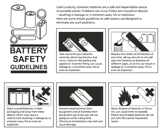 Battery safety guidelines overview