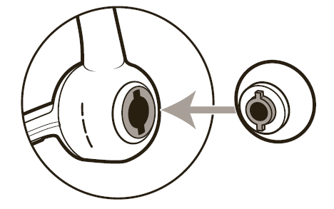 Aligning the ear tip correctly diagram
