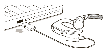 Attaching the cable to a device through USB to charge