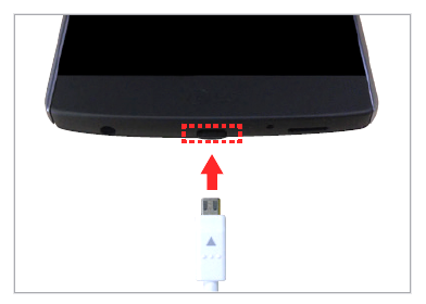 Where to insert the charger