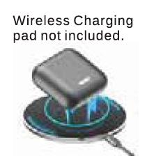 Ear bud wireless charging