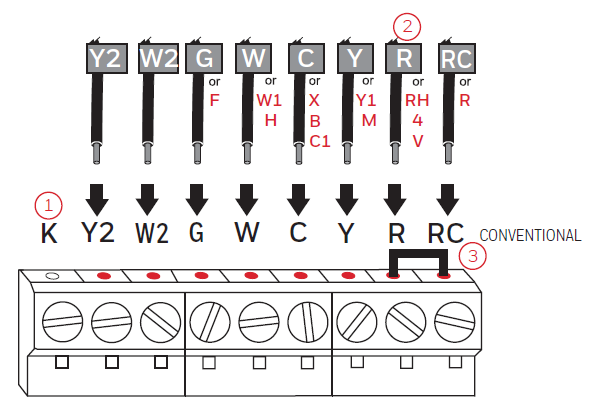 Alternate wiring diagram