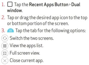 Viewing two apps at one time guide