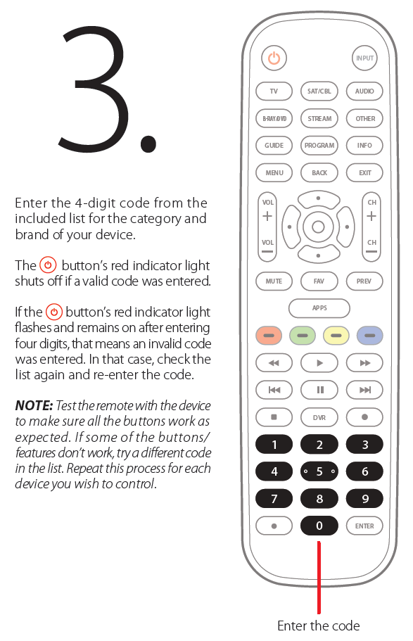 Programming the buttons step 3