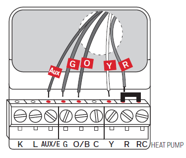 Wiring for heat pump only diagram