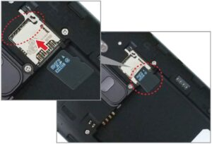Inserting a micro SD card