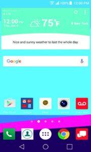 LG G4 Home Screenshot