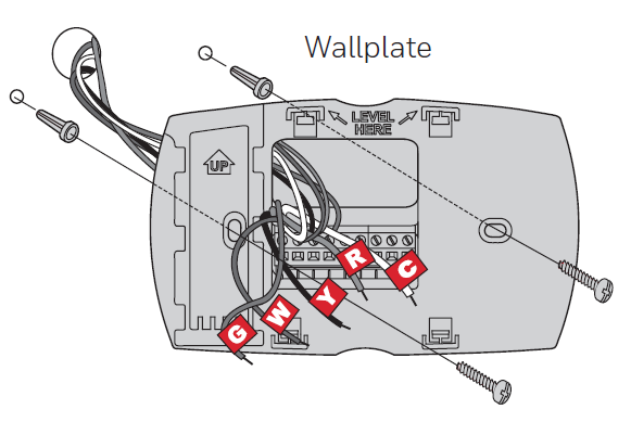 Mount wallplate with screws going through it