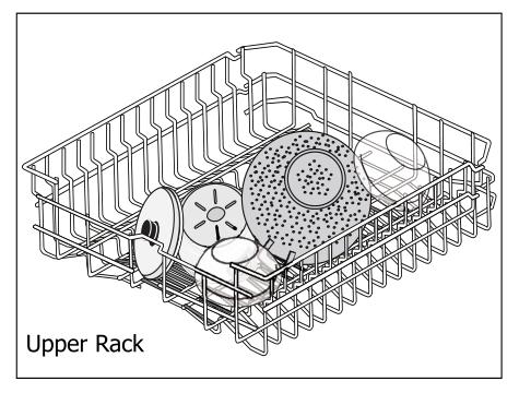 Top rack folded down