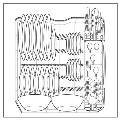 Bottom rack loading example