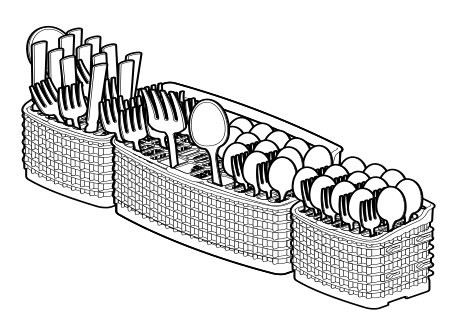 Example of the cutlery holder full