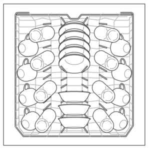 Loading example for the Frigidaire Dishwasher