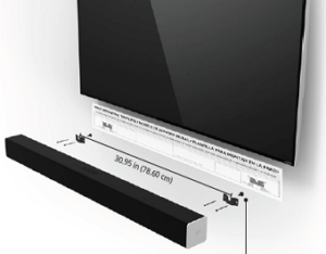 How to place the wall mounting template and then the soundbar on top of it