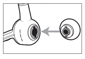 Adding a new ear tip into the headset