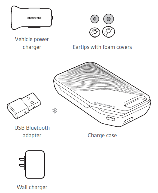Accesories available for the Plantronics Voyager