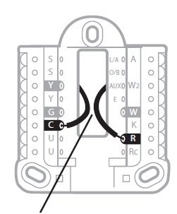 Wiring diagram for the thermostat