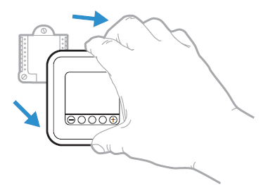 How to remove the thermostat control panel from the wall