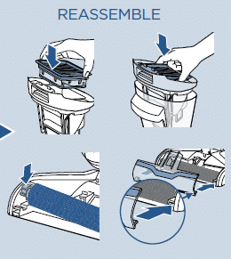 How to reassemble the pet vacuum