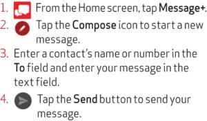 Sending a text guide