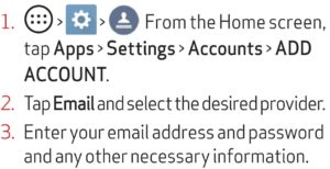 Email setup guide