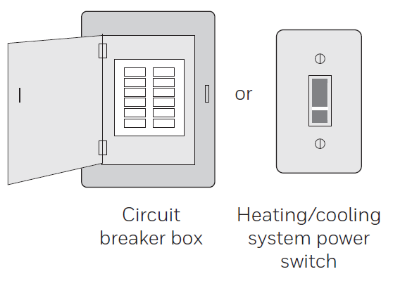 Diagram showing system power switch