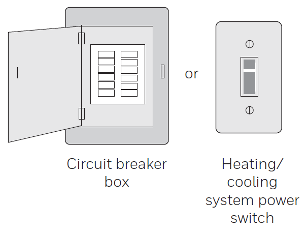 Heating cooling switch