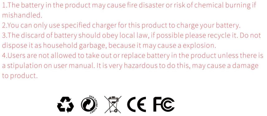 Battery warnings