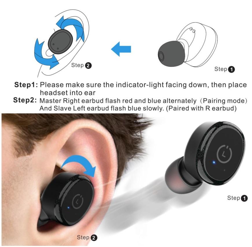 How to wear the TOZO T10 TWS Wireless Earbuds