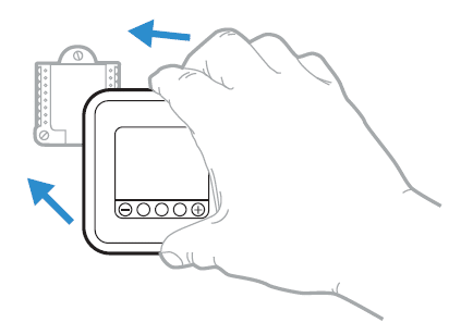 Mounting the thermostat diagram