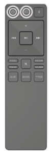 Using the remote control to turn the soundbar on