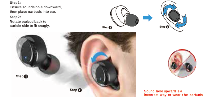How to wear the Tozo Bluetooth Headset T6 ear buds