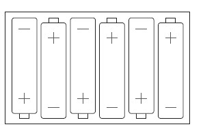 AA batteries install guide