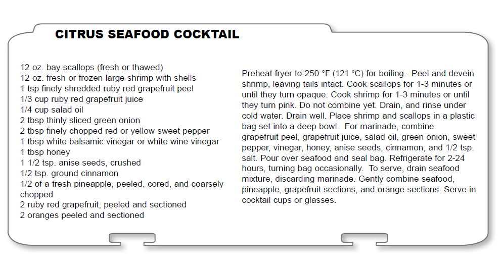 Citrus seafood cocktail recipe