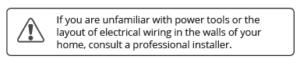 Power tools warning
