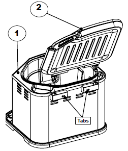 To remove the lid of the Butterball Electric Turkey Fryer