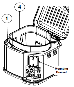 Inserting the inner pot into the fryer