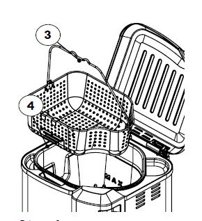 Placing the basket inside the fryer