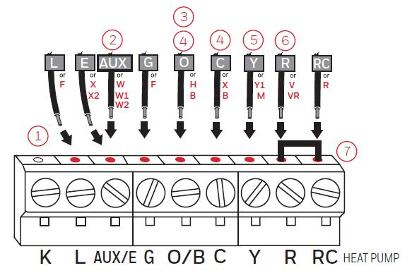 Alternate wiring diagram for heat pump setup