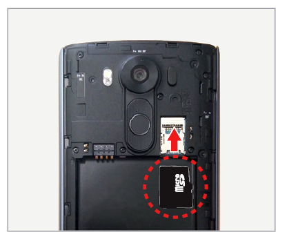 Inserting a sim card into the LG V10
